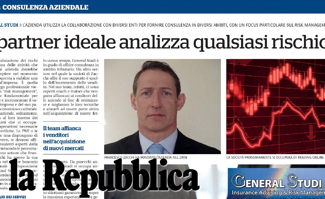 """""""La Repubblica"""" parla di noi"""